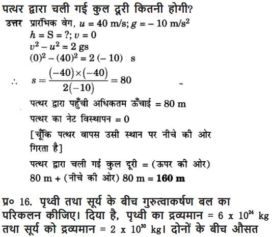 NCERT Solutions for Class 9 Science Chapter 10 Gravitation and Floatation Hindi Medium 17