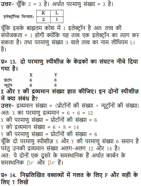 NCERT Solutions for Class 9 Science Chapter 4 Structure of the Atom Hindi Medium 17