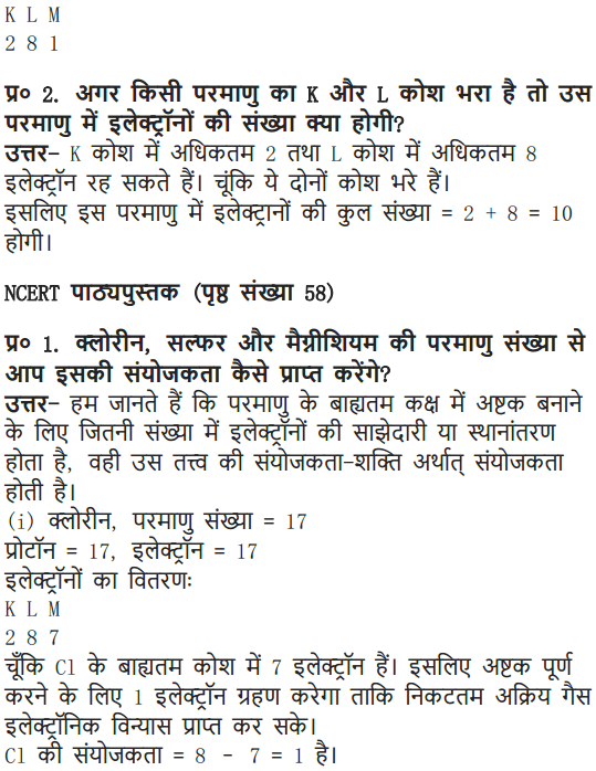 NCERT Solutions for Class 9 Science Chapter 4 Structure of the Atom Hindi Medium 4