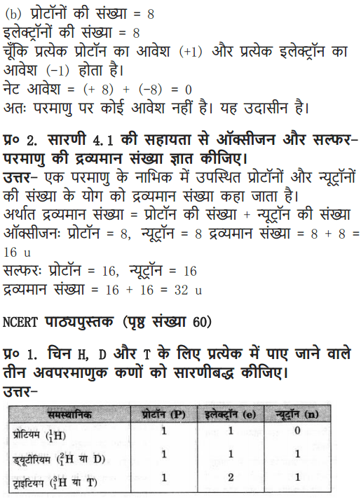 NCERT Solutions for Class 9 Science Chapter 4 Structure of the Atom Hindi Medium 6