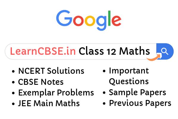Class 12 Maths NCERT Solutions