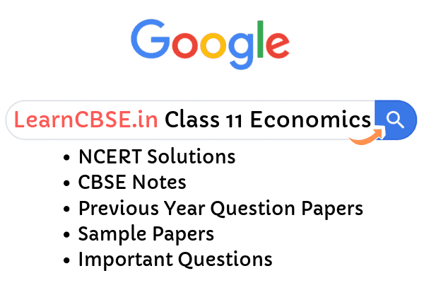 NCERT Solutions for Class 11 Economics