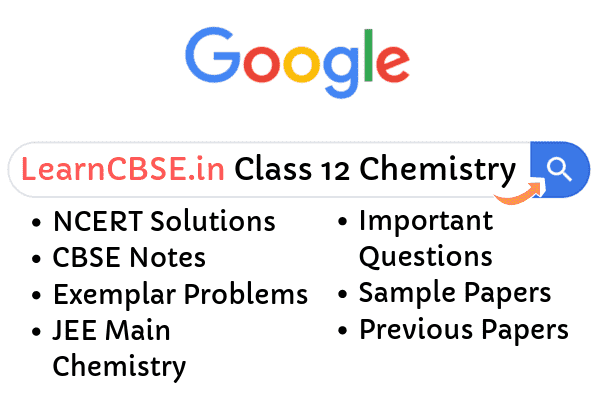 NCERT Solutions for Class 12 Chemistry