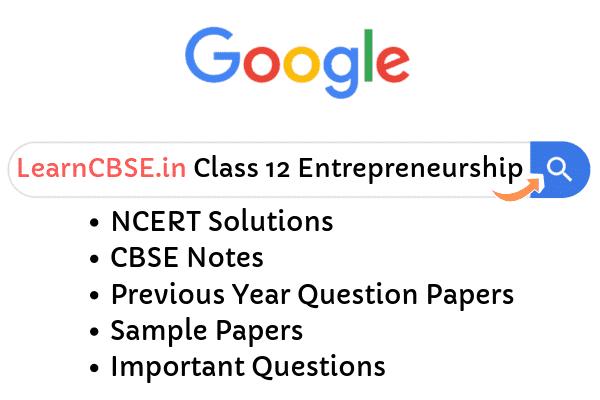 NCERT Solutions for Class 12 Entrepreneurship