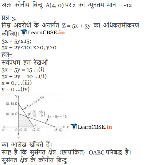 12 Maths Exercise 12.1 Linear Programming