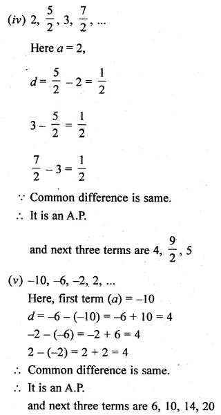 ML Aggarwal Class 10 Solutions for ICSE Maths Chapter 9 Arithmetic and Geometric Progressions Ex 9.1
