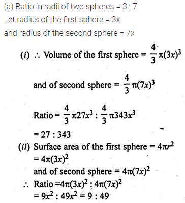 ML Aggarwal Class 10 Solutions for ICSE Maths Chapter 17 Mensuration Ex 17.3