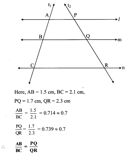 Maharashtra Board Class 10 Maths Solutions Chapter 1 Similarity Practice Set 1.2 17