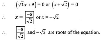 Maharashtra Board Class 10 Maths Solutions Chapter 2 Quadratic Equations Practice Set 2.2 8