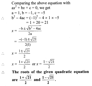 Maharashtra Board Class 10 Maths Solutions Chapter 2 Quadratic Equations Problem Set 2 4