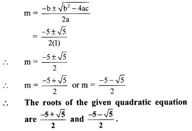 Maharashtra Board Class 10 Maths Solutions Chapter 2 Quadratic Equations Problem Set 2 5
