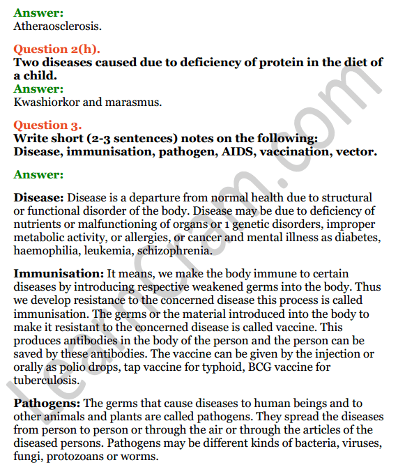 Selina Concise Biology Class 8 ICSE Solutions Chapter 8 Diseases and First Aid 6