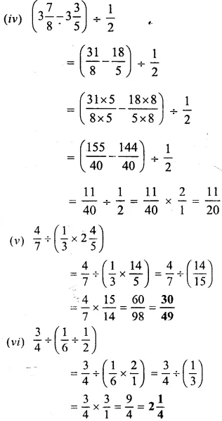 Selina Concise Mathematics Class 6 ICSE Solutions Chapter 14 Fractions Ex 14D 36