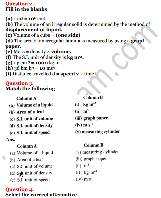Selina Concise Physics Class 7 ICSE Solutions Chapter 1 Physical Quantities and Measurement 2