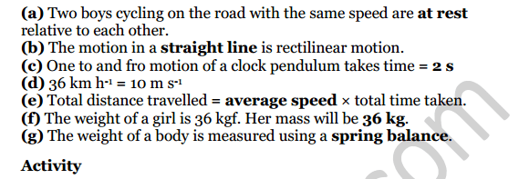 Selina Concise Physics Class 7 ICSE Solutions Chapter 2 Motion 2