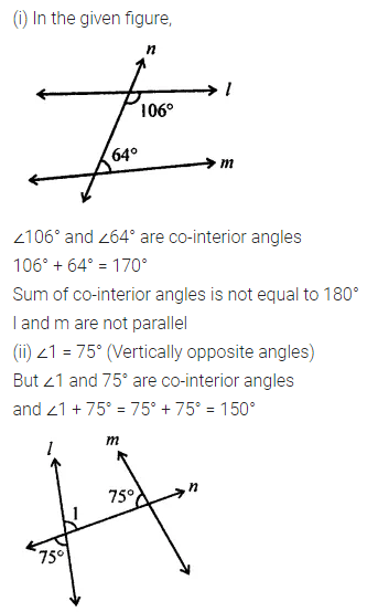 ML Aggarwal Class 7 Solutions for ICSE Maths Chapter 10 Lines and Angles Ex 10.2 22