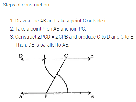 ML Aggarwal Class 7 Solutions for ICSE Maths Chapter 13 Practical Geometry Check Your Progress 2