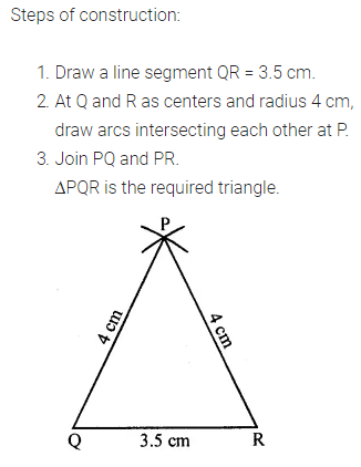ML Aggarwal Class 7 Solutions for ICSE Maths Chapter 13 Practical Geometry Check Your Progress 3