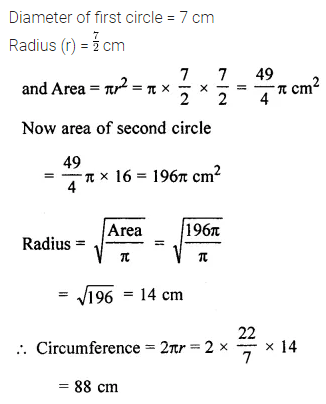 ML Aggarwal Class 7 Solutions for ICSE Maths Chapter 16 Perimeter and Area Check Your Progress 12