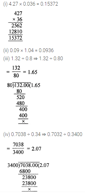ML Aggarwal Class 7 Solutions for ICSE Maths Chapter 2 Fractions and Decimals Check Your Progress 13