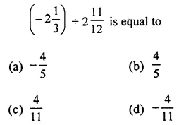 ML Aggarwal Class 7 Solutions for ICSE Maths Chapter 3 Rational Numbers Objective Type Questions 15