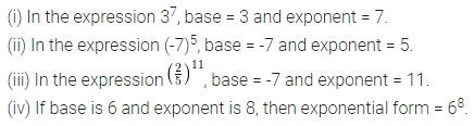 ML Aggarwal Class 7 Solutions for ICSE Maths Chapter 4 Exponents and Powers Ex 4.1 1
