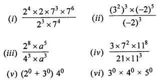 ML Aggarwal Class 7 Solutions for ICSE Maths Chapter 4 Exponents and Powers Ex 4.2 9