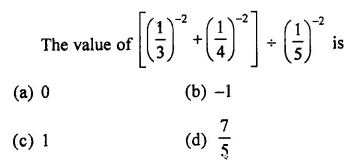 ML Aggarwal Class 7 Solutions for ICSE Maths Chapter 4 Exponents and Powers Objective Type Questions 19
