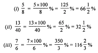 ML Aggarwal Class 7 Solutions for ICSE Maths Chapter 7 Percentage and Its Applications Check Your Progress 2