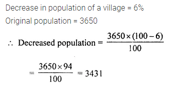 ML Aggarwal Class 7 Solutions for ICSE Maths Chapter 7 Percentage and Its Applications Check Your Progress 9