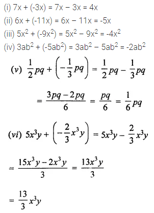 ML Aggarwal Class 7 Solutions for ICSE Maths Chapter 8 Algebraic Expressions Ex 8.2 1