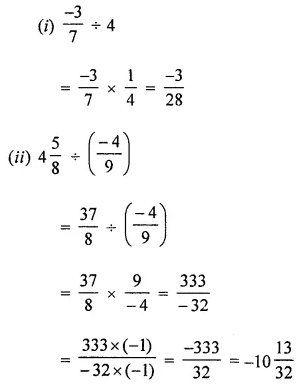 ML Aggarwal Class 8 Solutions for ICSE Maths Chapter 1 Rational Numbers Ex 1.4 2