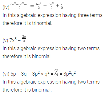 ML Aggarwal Class 8 Solutions for ICSE Maths Chapter 10 Algebraic Expressions and Identities Ex 10.1 3