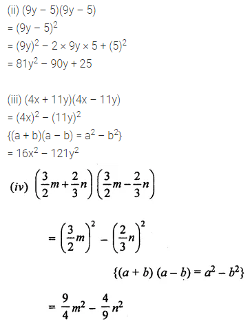 ML Aggarwal Class 8 Solutions for ICSE Maths Chapter 10 Algebraic Expressions and Identities Ex 10.5 2