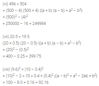 ML Aggarwal Class 8 Solutions for ICSE Maths Chapter 10 Algebraic Expressions and Identities Ex 10.5 6