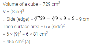 ML Aggarwal Class 8 Solutions for ICSE Maths Chapter 18 Mensuration Objective Type Questions 12