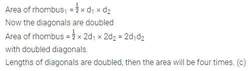 ML Aggarwal Class 8 Solutions for ICSE Maths Chapter 18 Mensuration Objective Type Questions 9
