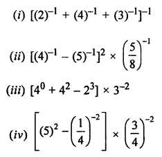 ML Aggarwal Class 8 Solutions for ICSE Maths Chapter 2 Exponents and Powers Ex 2.1 3