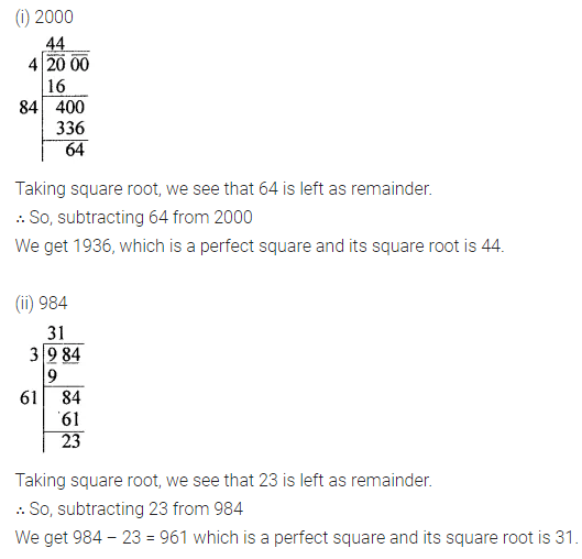 ML Aggarwal Class 8 Solutions for ICSE Maths Chapter 3 Squares and Square Roots Ex 3.4 13