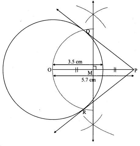 Maharashtra Board Class 10 Maths Solutions Chapter 4 Geometric Constructions Problem Set 4 2