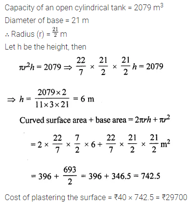 ML Aggarwal Class 8 Solutions for ICSE Maths Chapter 18 Mensuration Check Your Progress 22