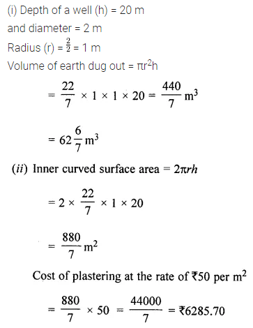 ML Aggarwal Class 8 Solutions for ICSE Maths Chapter 18 Mensuration Check Your Progress 24