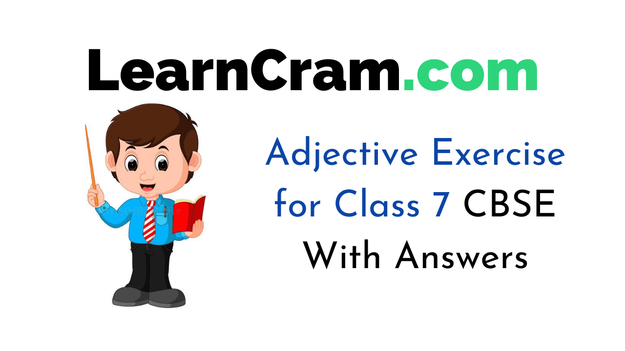 Adjective Exercise for Class 7 CBSE
