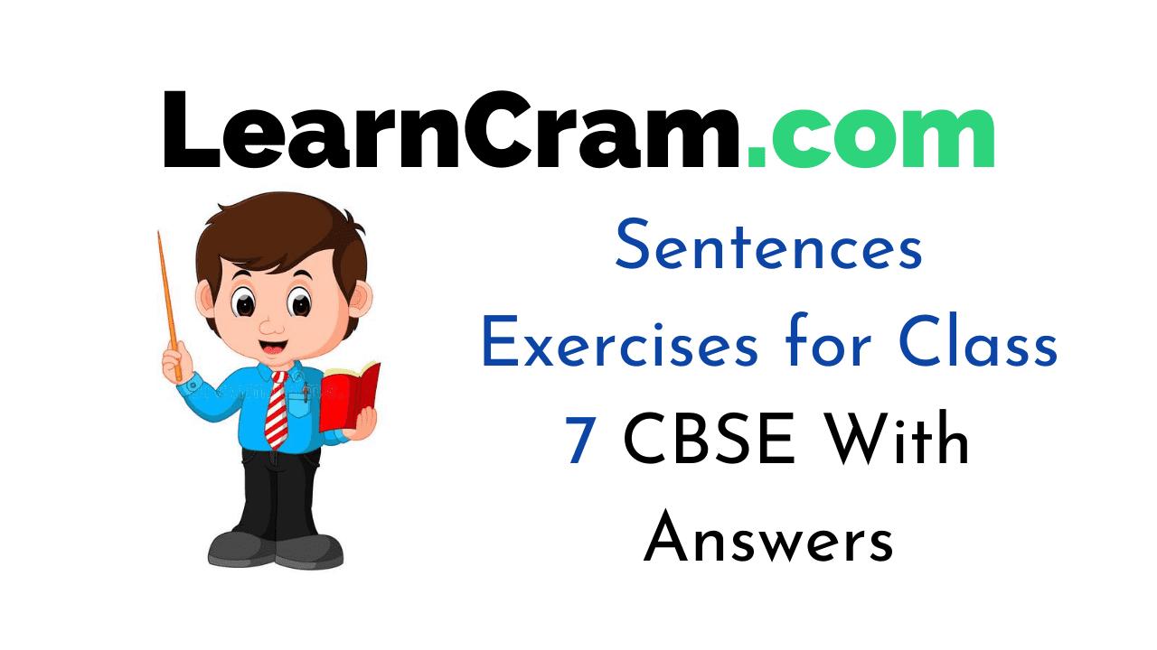Sentences Exercises for Class 7 CBSE
