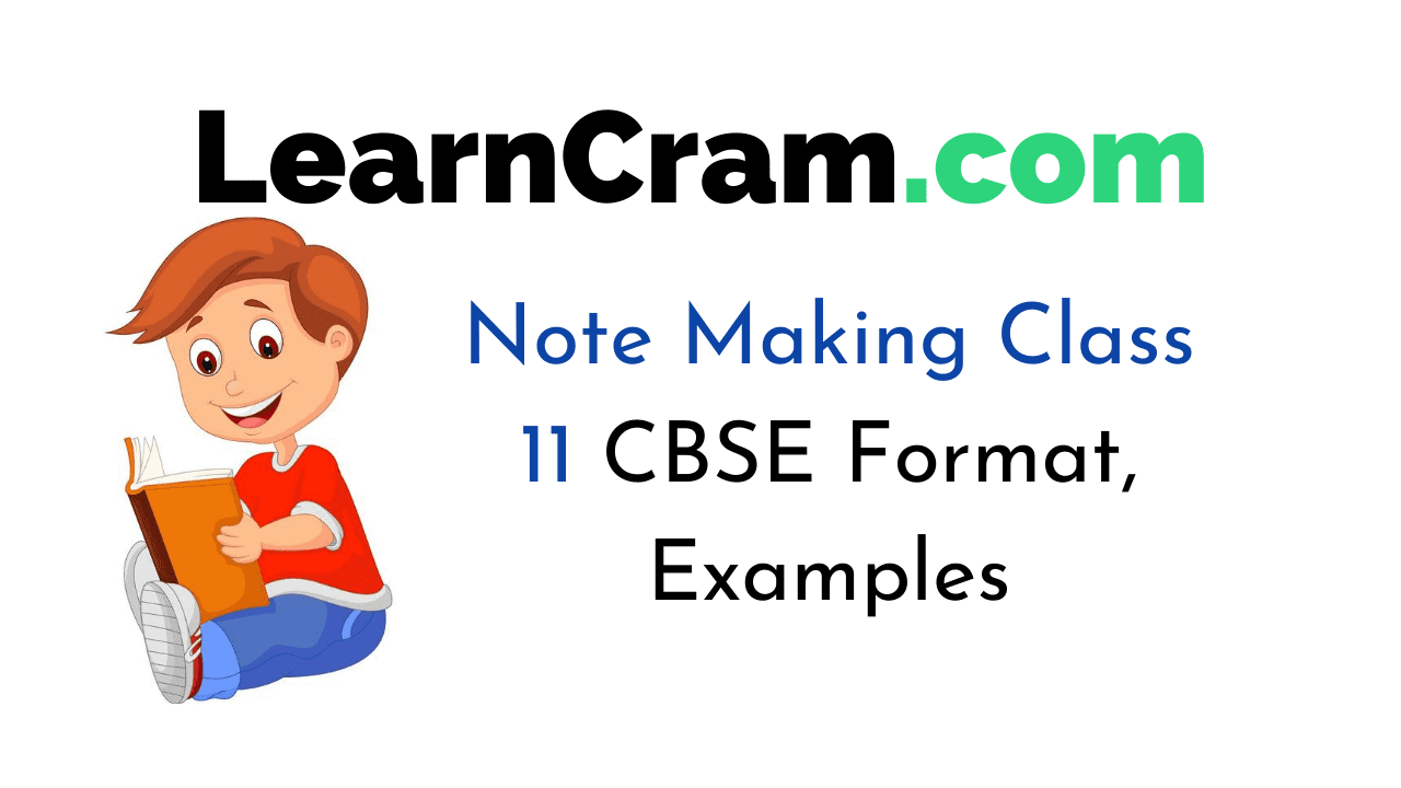 Note Making Class 11