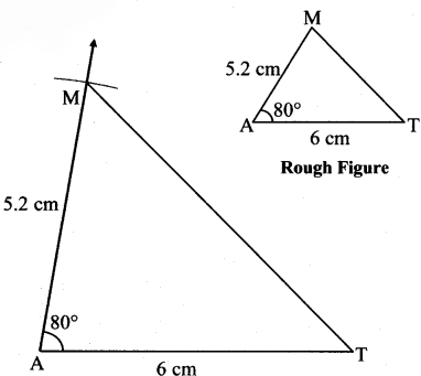 Maharashtra Board Class 7 Maths Solutions Chapter 1 Geometrical Constructions Practice Set 3 1