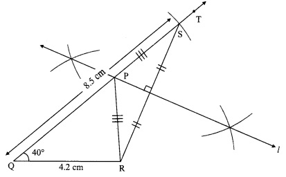 Maharashtra Board Class 9 Maths Solutions Chapter 4 Constructions of Triangles Practice Set 4.1 2