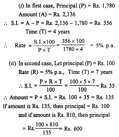 Selina Concise Mathematics Class 7 ICSE Solutions Chapter 10 Simple Interest 16