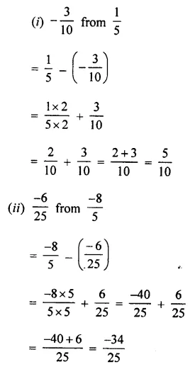 Selina Concise Mathematics Class 7 ICSE Solutions Chapter 2 Rational Numbers Ex 2C 61