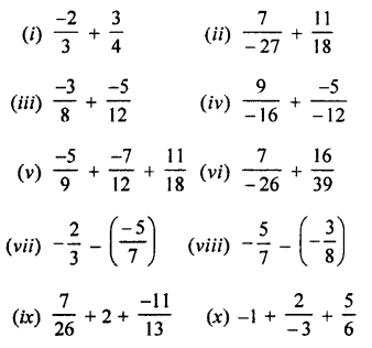 Selina Concise Mathematics Class 7 ICSE Solutions Chapter 2 Rational Numbers Ex 2E Q1